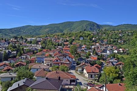 hercegovina: Travel to Europa.Panoramic view the Jajce,Bosnia and Herzegovina