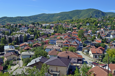 hercegovina: Travel to Europa.Panoramic view in Jajce,Bosnia and Herzegovina