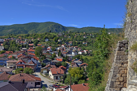 bosnia hercegovina: Travel to Europa.Panoramic view from old castle in the Jajce,Bosnia and Herzegovina