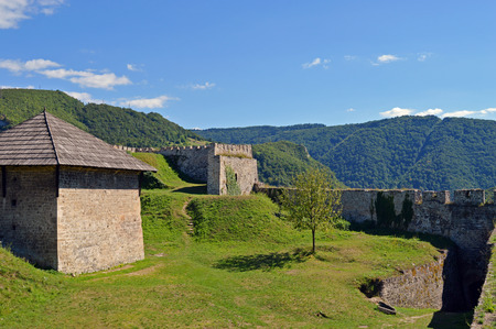 hercegovina: Travel to Europa.Panoramic view from old castle in the Jajce,Bosnia and Herzegovina