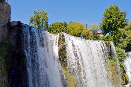 Travel to Europa.Waterfall in the jajce,Bosnia and Herzegovina Stock Photo