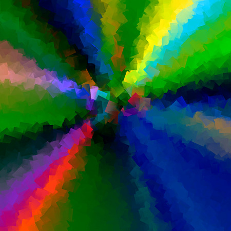Abstract background of the caribbean blus gradient with visual cubism effects Imagens