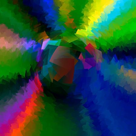 cubismo: Resumen de fondo del gradiente blus Caribe con el cubismo visual y efectos de arrastre
