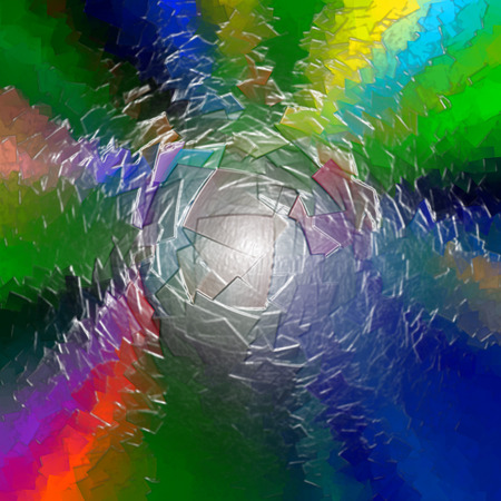 Abstract background of the caribbean blus gradient with visual cubism,pinch and plastic wrap effects