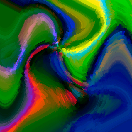 caribbean: Abstract background of the caribbean blues gradient with visual cubism and wave effects