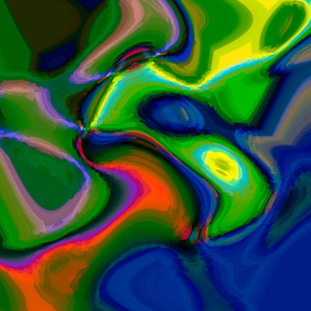 cubism: Abstract background of the caribbean blues gradient with visual cubism and wave effects