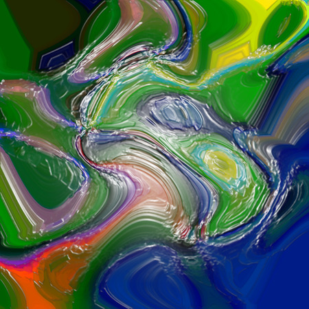 Abstract background of the caribbean blues gradient with visual cubism,wave and plastic wrap effects