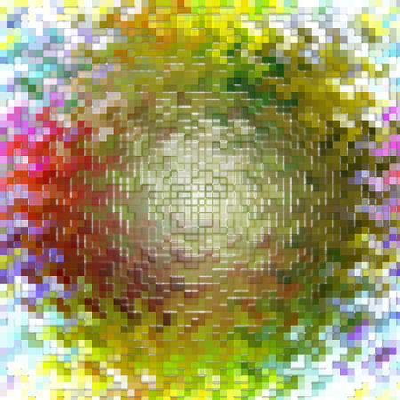 cubismo: Resumen de fondo coloración de la pendiente del extracto con el cubismo visual, onda, mosaico y efectos envoltorio de plástico, bueno para su diseño