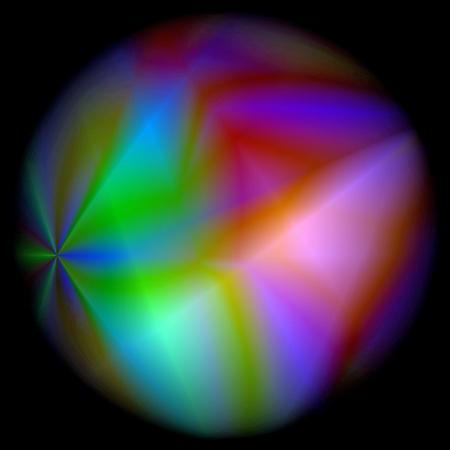 抽象的な視覚レンズで影のグラデーションの背景に歪み効果を着色