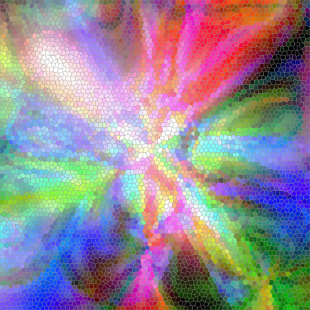 colors: Abstract coloring background of the tropical colors gradient with visual pinch and stained glass effects