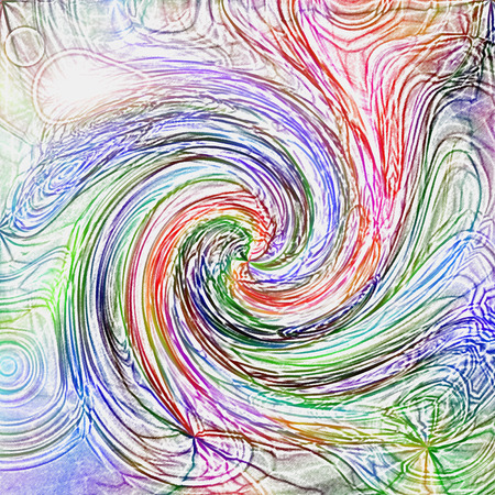 Abstract coloring background of the tropical colors gradient with visual twirl and colored pencils  effects Reklamní fotografie