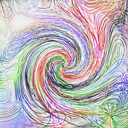 Estratto colorazione sfondo dei colori tropicali gradiente con twirl visivo e colorati effetti matite Archivio Fotografico - 63131380