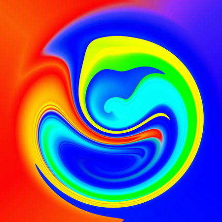 Abstract coloring background of the abstract gradient with visual lighting, shear,poolar coordinates and twirl effects.Good for your project design