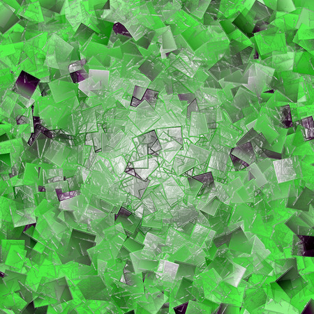 Abstract coloring background of the green gradient with visual lighting,cubism,mosaic and plastic wrap effects.Good for your project design Imagens