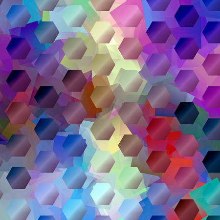 Abstract coloring background of the horizon gradient with visual  mosaic and cubism effects.Good for your project design Imagens