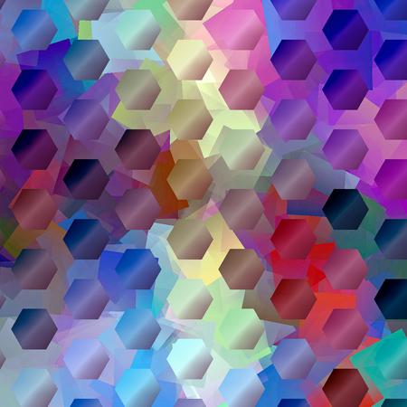 cubismo: Resumen de fondo coloración del gradiente horizonte con mosaico visual y effects.Good cubismo para el diseño del proyecto