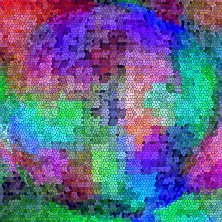 Abstract coloring background of the abstract gradient with visual cubism,mosaic,spherize and stained glass  effects Imagens
