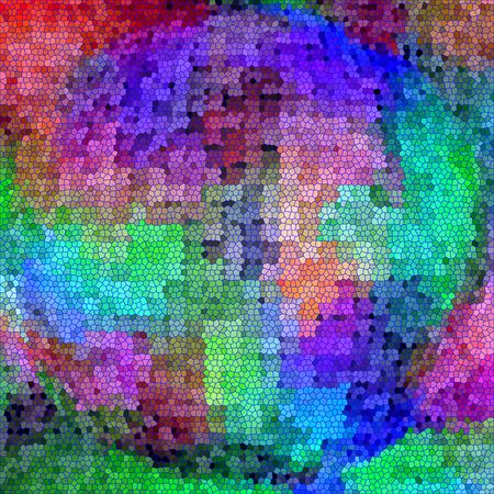 cubismo: Fondo abstracto colorido de la pendiente del extracto con el cubismo visual, mosaico, spherize y los efectos de vidrios de colores