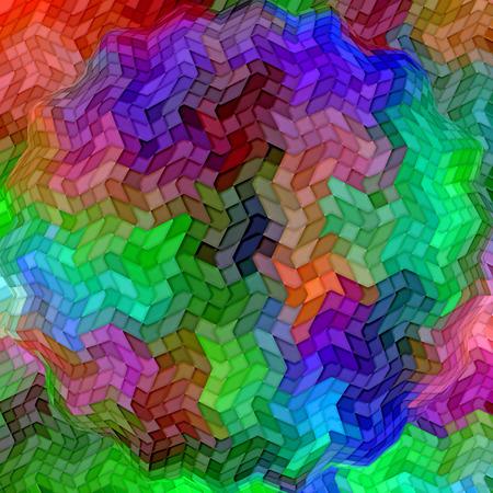 cubismo: Resumen de fondo coloración de la pendiente del extracto con el cubismo visual, mosaico, spherize y los efectos del oleaje Foto de archivo