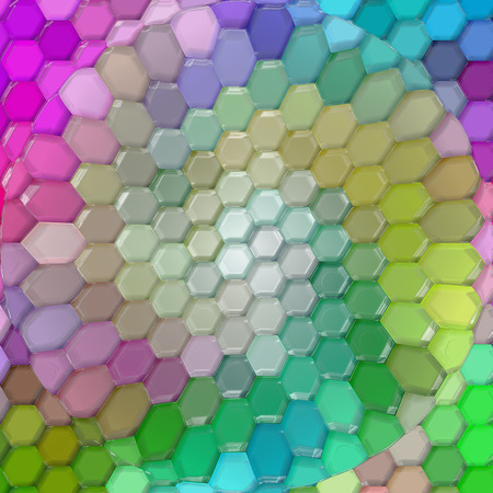 harmonies: Abstract coloring background of the color harmonies  gradient with visual pinch,mosaic,spherize and plastic wrap  effects