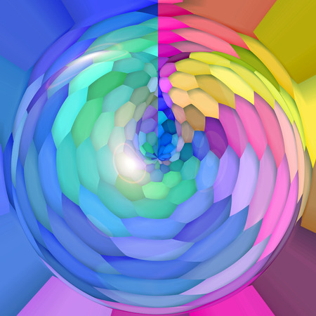 coordinates: Abstract coloring background of the abstract gradient with visual mosaic,hexagon,spherize ,poolar coordinates and lighting effects