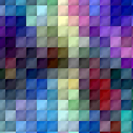 Abstract coloring background of the horizon gradient with visual cubism and mosaic effects Imagens