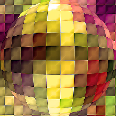 Abstract coloring background of the horizon gradient with visual cubism,mosaic and spherize  effects
