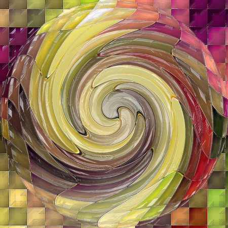 Abstract coloring background of the horizon gradient with visual cubism,mosaic,spherize,twirl and plastic wrap effects
