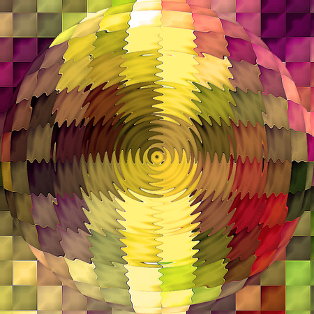Abstract coloring background of the horizon gradient with visual cubism,mosaic,spherize and zigzag   effects
