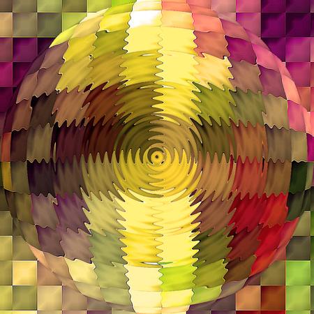cubismo: Resumen de antecedentes coloración del gradiente horizonte visual con el cubismo, mosaico, spherize y efectos en zigzag