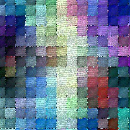 Abstract coloring background of the horizon gradient with visual mosaic,cubism and stained glass effects