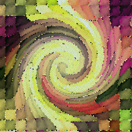 Abstract coloring background of the horizon gradient with visual mosaic,cubism,twirl and stained glass effects