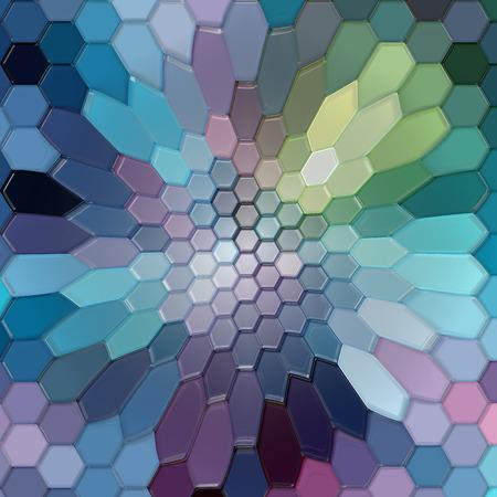 cubismo: coloración de fondo abstracto de las líneas y curvas de gradiente con efectos visuales cubismo, buena para su diseño