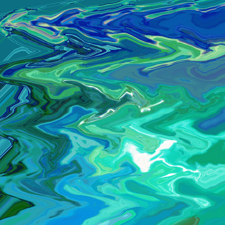 Abstract background of the  horizon gradient with visual  cubism and wave effects Imagens