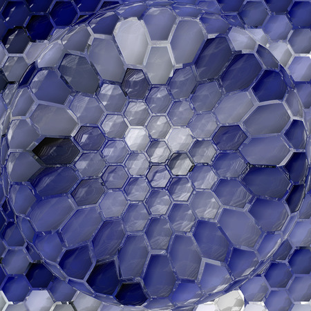 Abstract background of the gradient with visual mosaic,cubism,pinch and plastic wrap effects