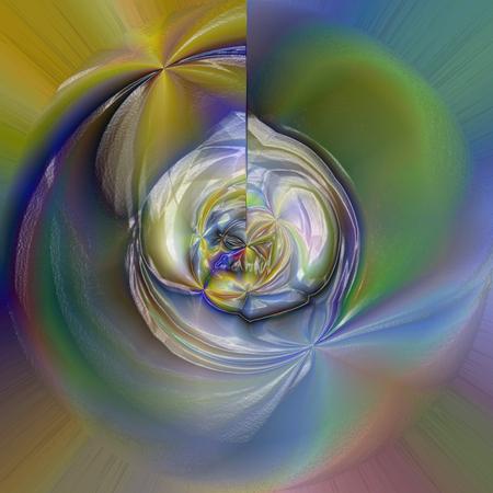 Abstrakter Farbtonhintergrund der Goldsteigung mit Sichtlicht-, Rotation- und Welleneffekten Standard-Bild - 70279269