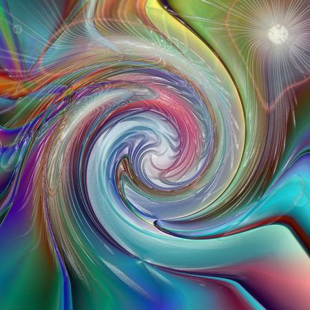 Abstrakter Farbtonhintergrund der Horizontsteigung mit Sichtbeleuchtung und Welleneffekten Standard-Bild - 70281728