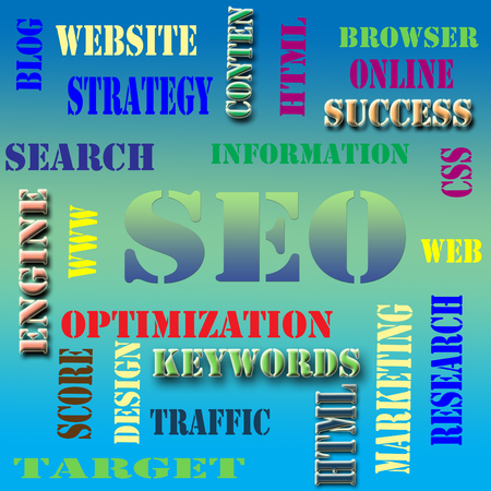 The worl cloud of the SEO - Search Engine Optimization