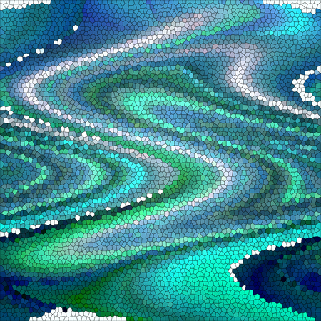 effects of lighting: Abstract coloring background of the deep sea gradient with visual wave,twirl,stained glass,pinch and lighting effects