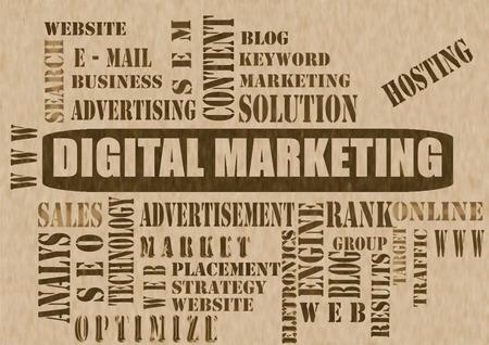 Digital marketing as background,Marketing business strategy word cloud 版權商用圖片