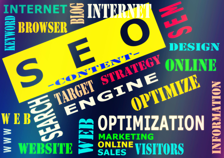 The word cloud of the S E O - Search Engine Optimization