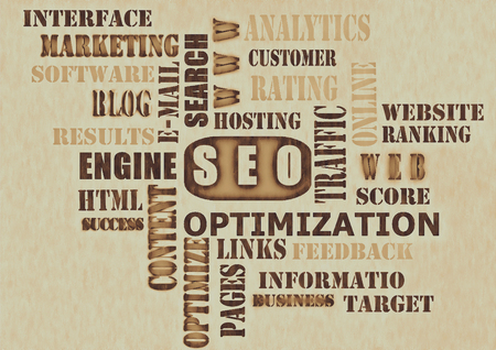 The word cloud of the SEO-Search Engine Optimization