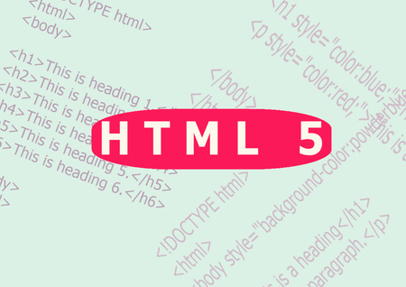HTML 5 word cloud,business and internet concept