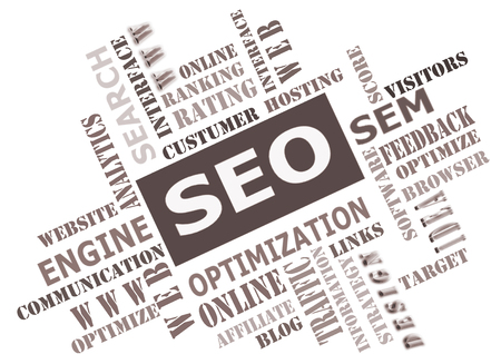 The word cloud of the SEO - Search Engine Optimization