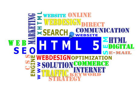 find: The word cloud of the HTML5,business and internet concept