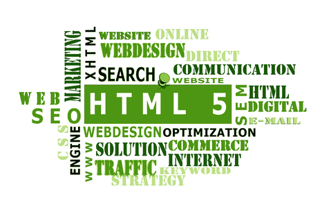 The word cloud of the HTML5,business and internet concept