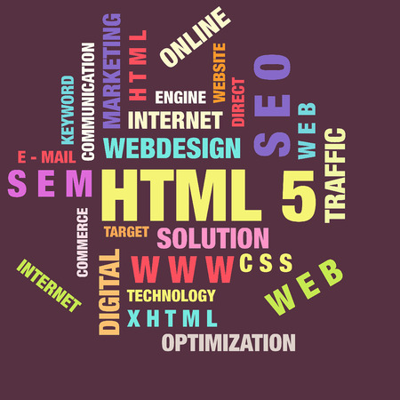 The word cloud of the HTML5,business and internet concept Stock Photo - 72581569