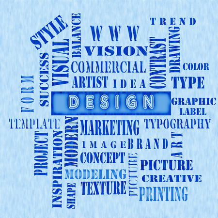The word cloud of the DESIGN ,business and internet concept