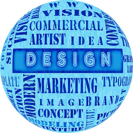 xml: The word cloud of the DESIGN ,business and internet concept