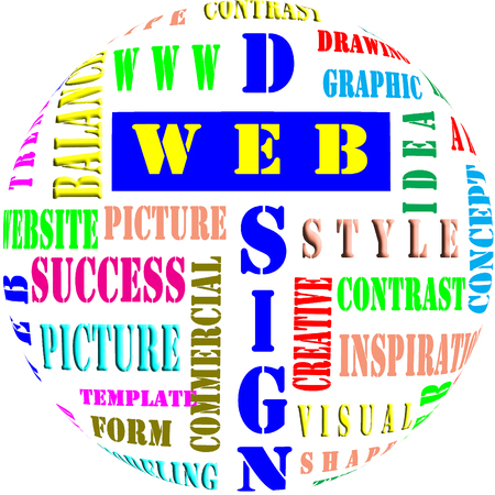 The word cloud of the web design,business and internet concept Stock Photo